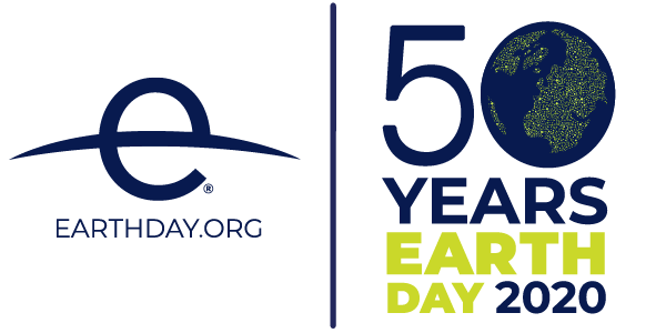 50 years of Earth Day logo from earthday.org