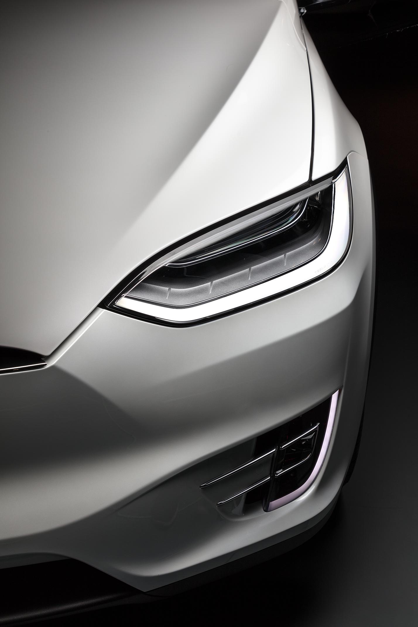 Model X headlight detail