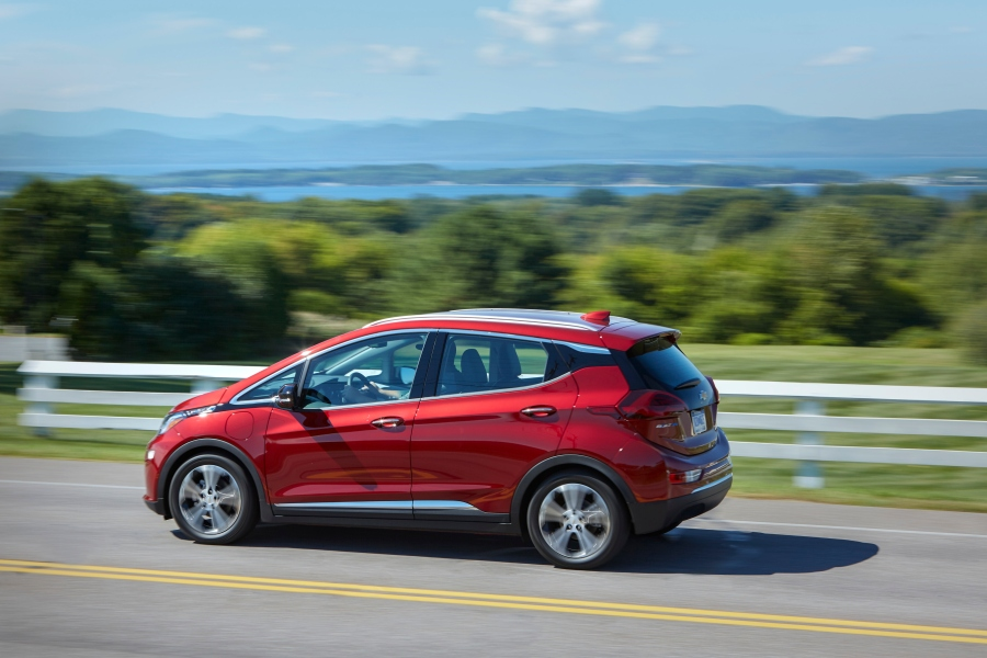 Chevy Bolt EV driving on highway
