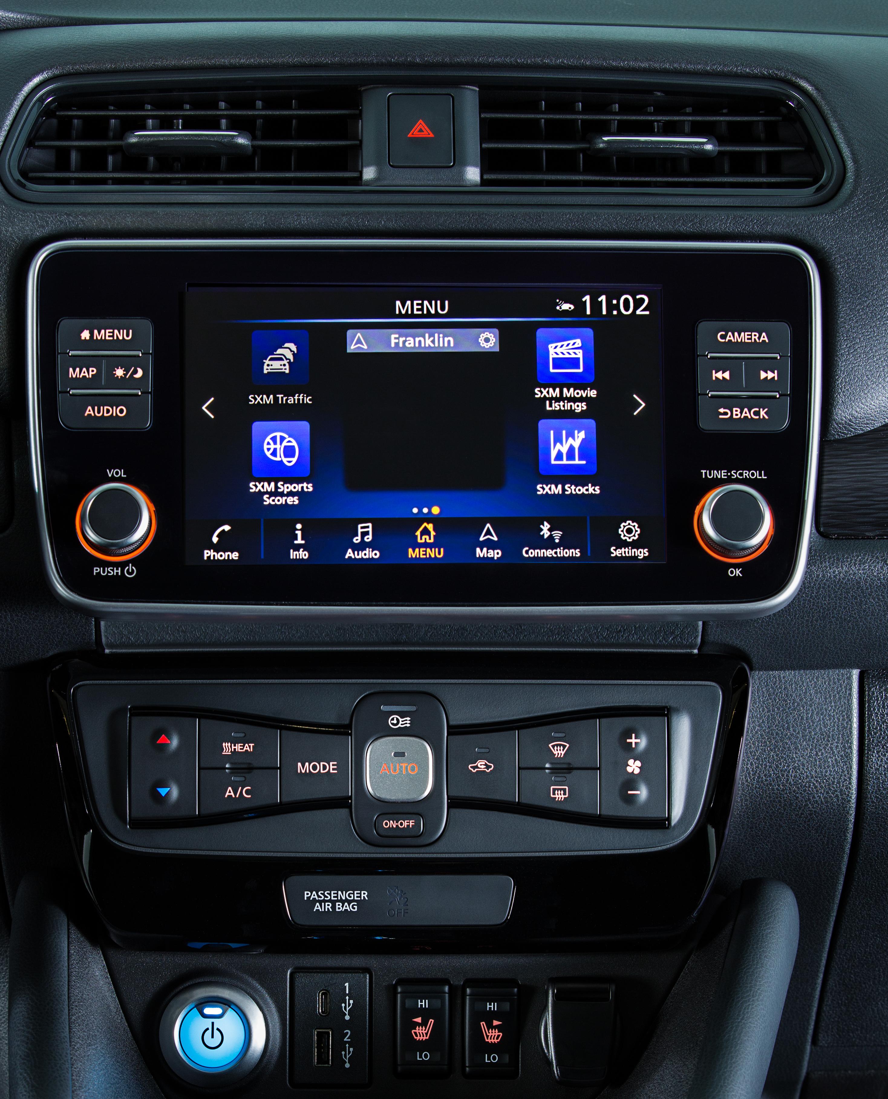 Nissan LEAF infotainment screen