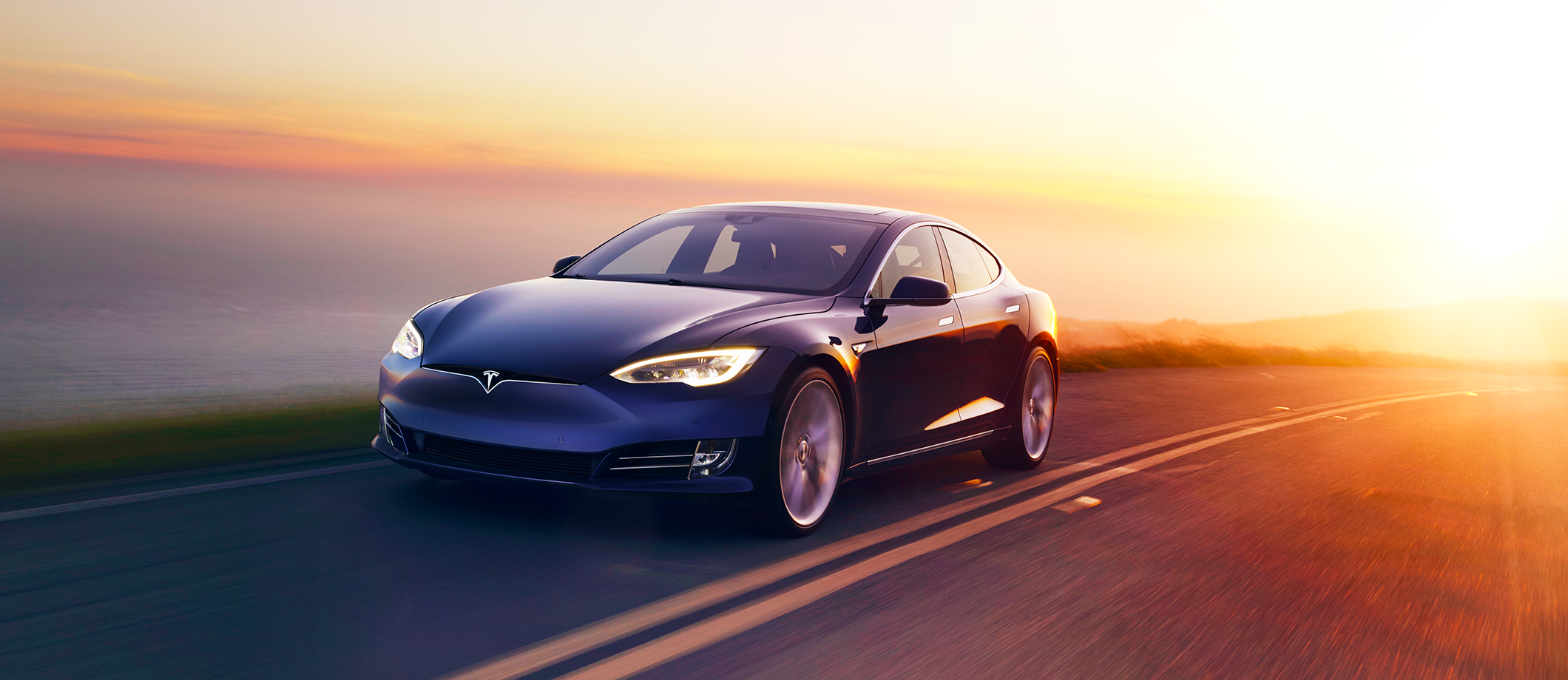 Model S Blue Sunset