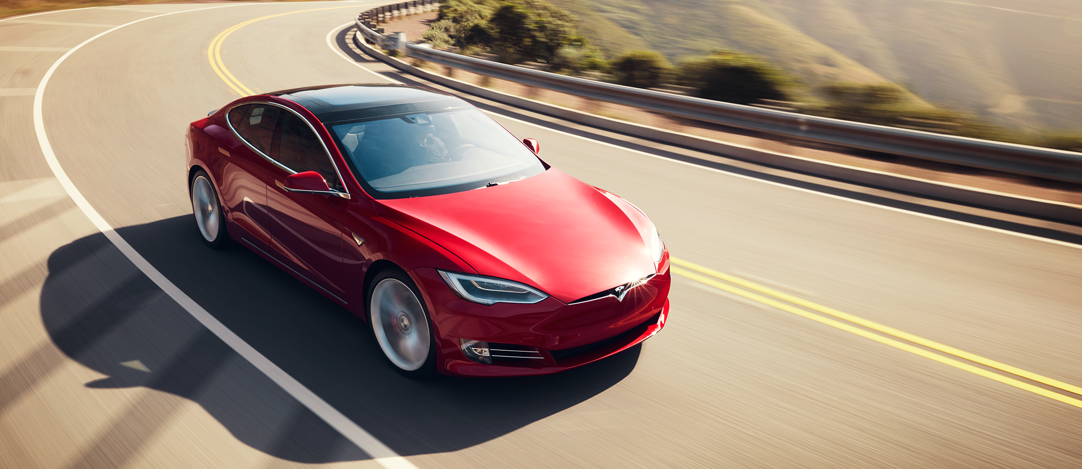 Model S Red Angle