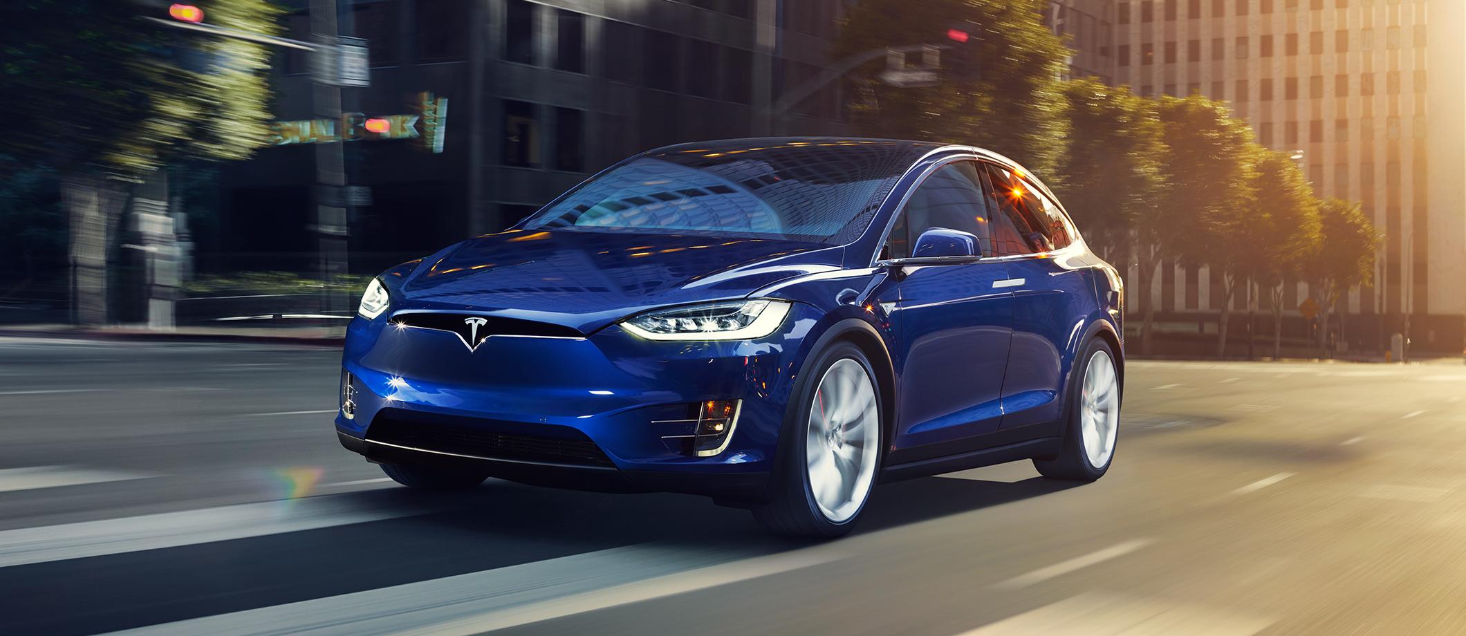 Model X in blue