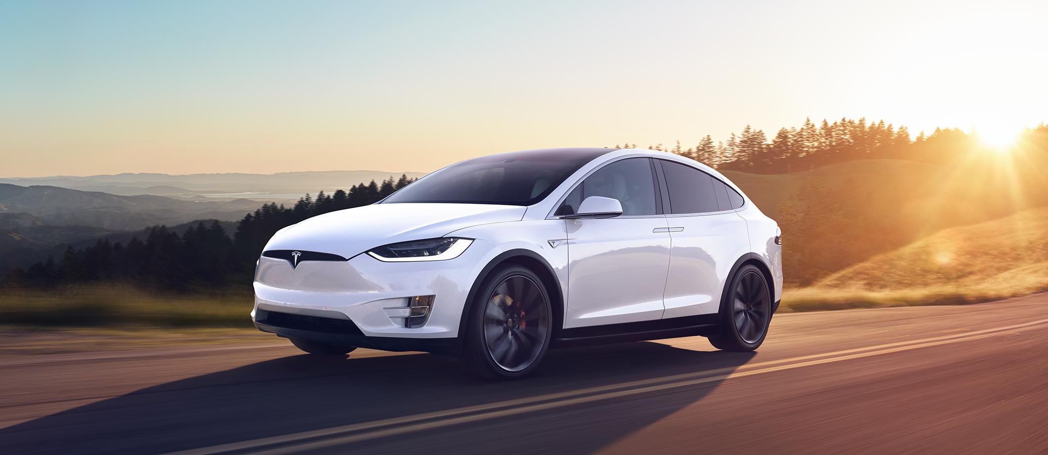 Model X in white
