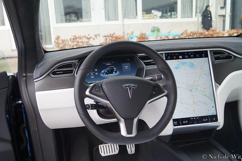 Tesla Model X White Interior