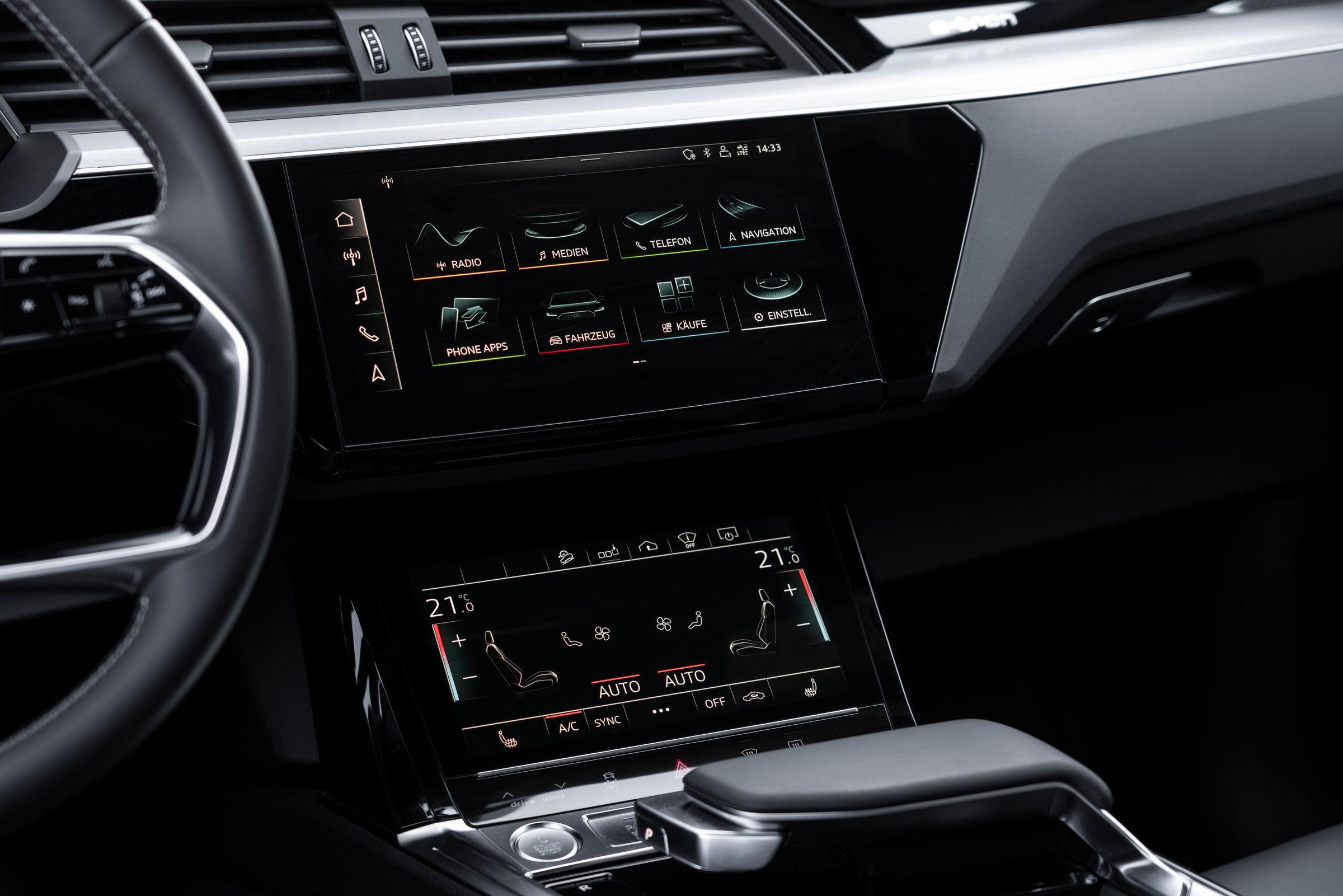 Audi e-tron Sportback center console