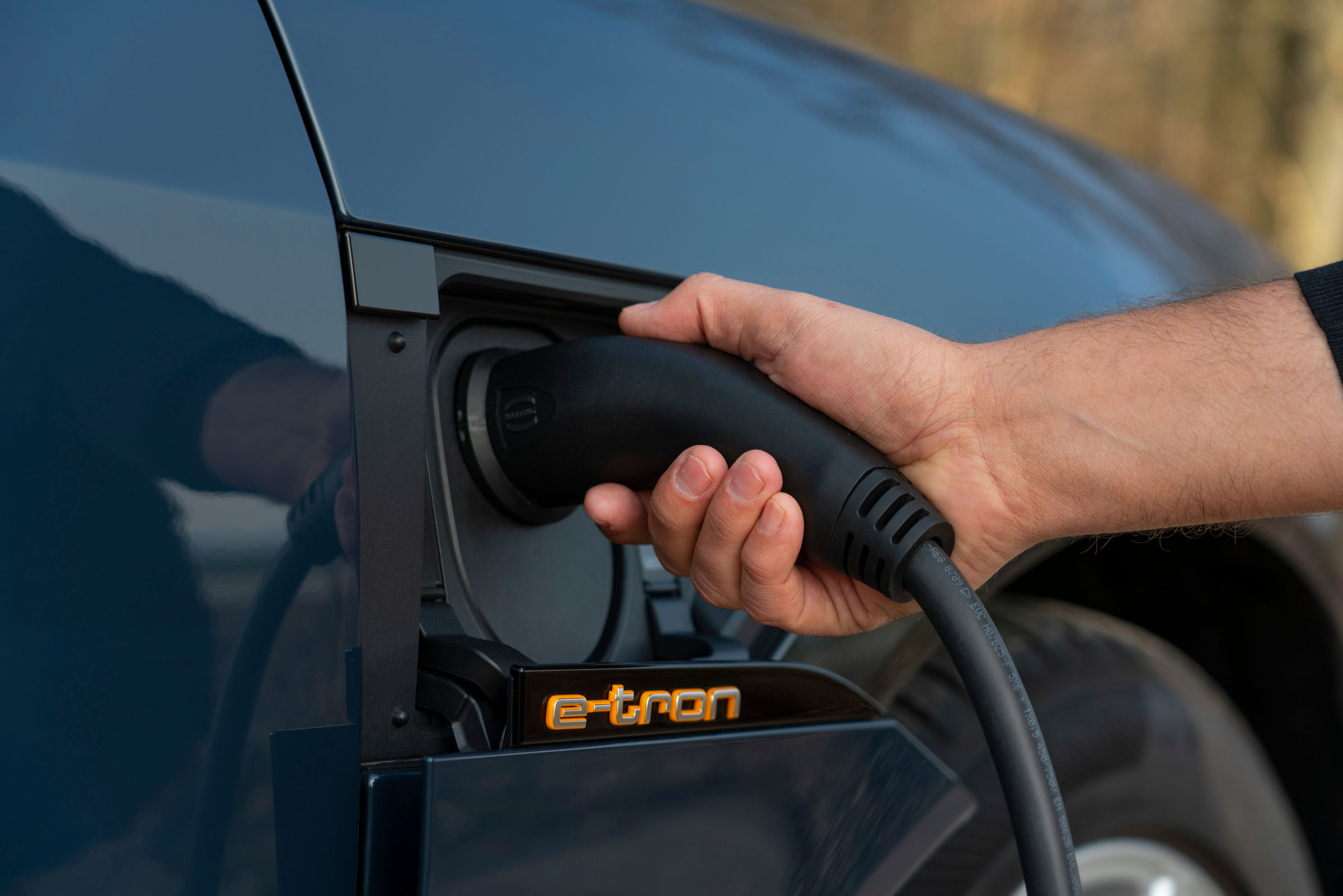 Audi e-tron Sportback charging port