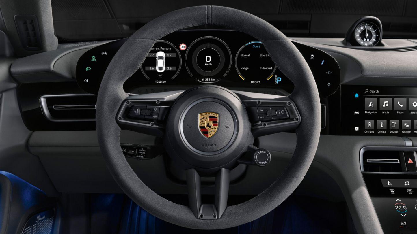 Porsche Taycan steering wheel