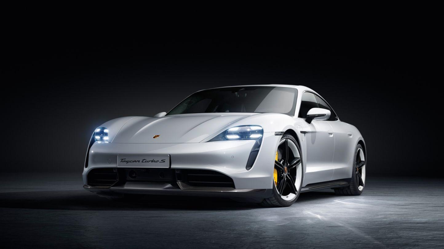 Porsche Taycan in white