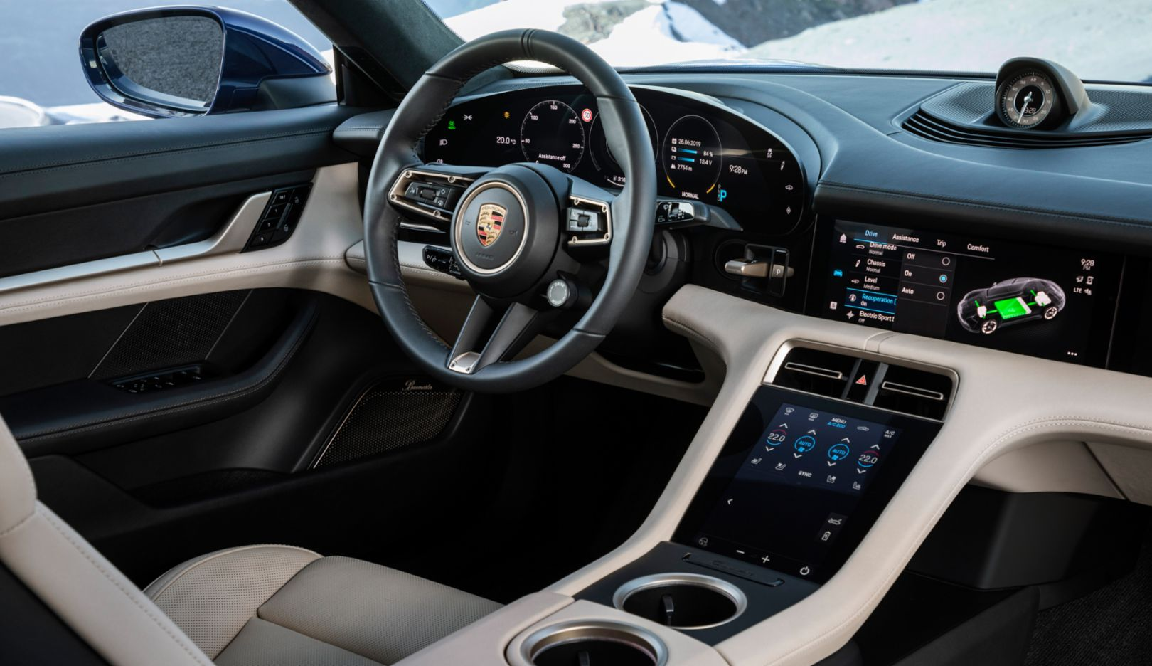 Porsche Taycan driver seat