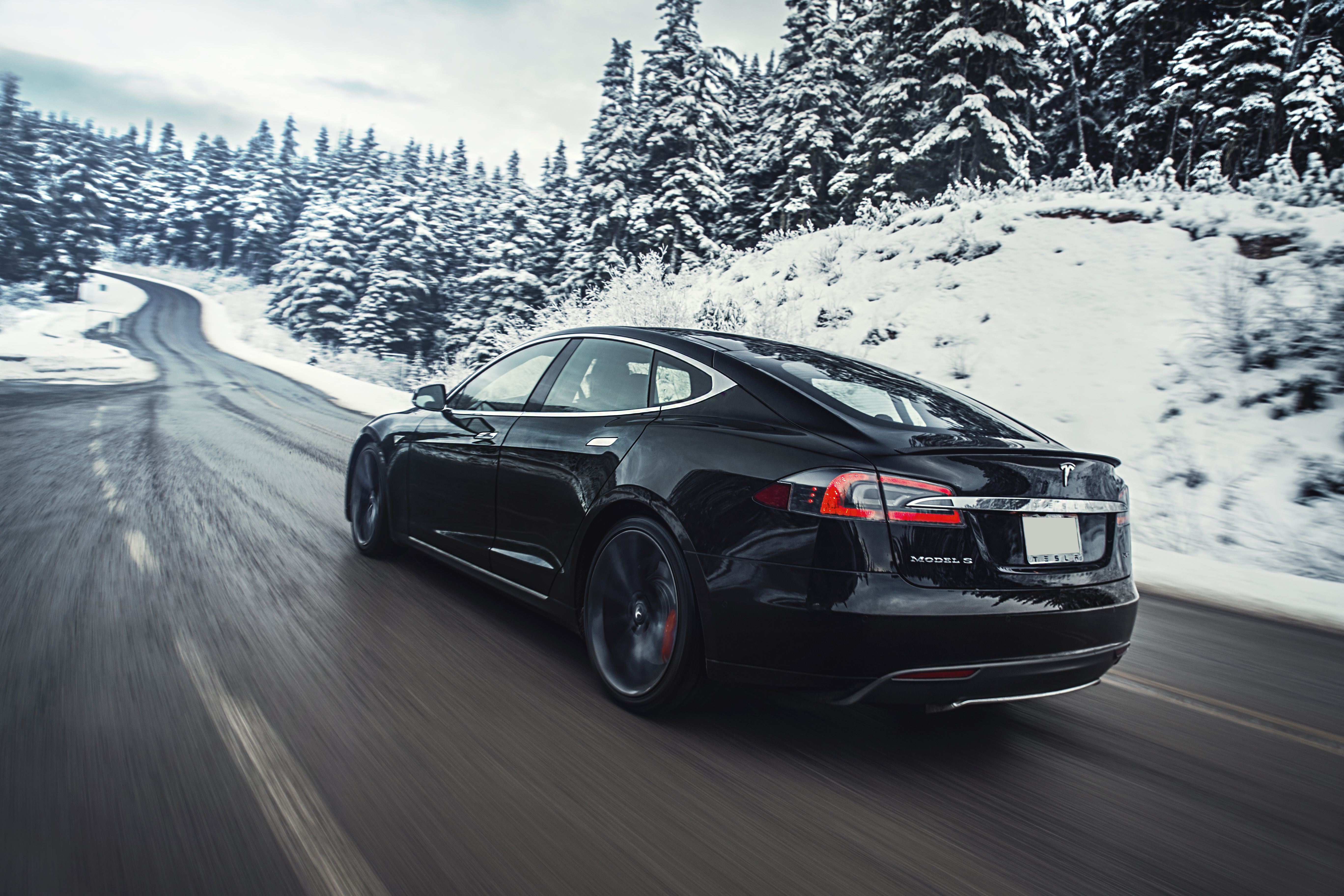 Black Model S Winter