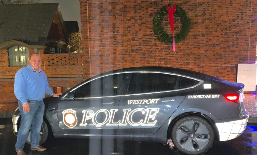 Westport CT Tesla Model 3 Police Car
