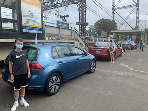 Volkswagen e-Golf and Tesla Model S
