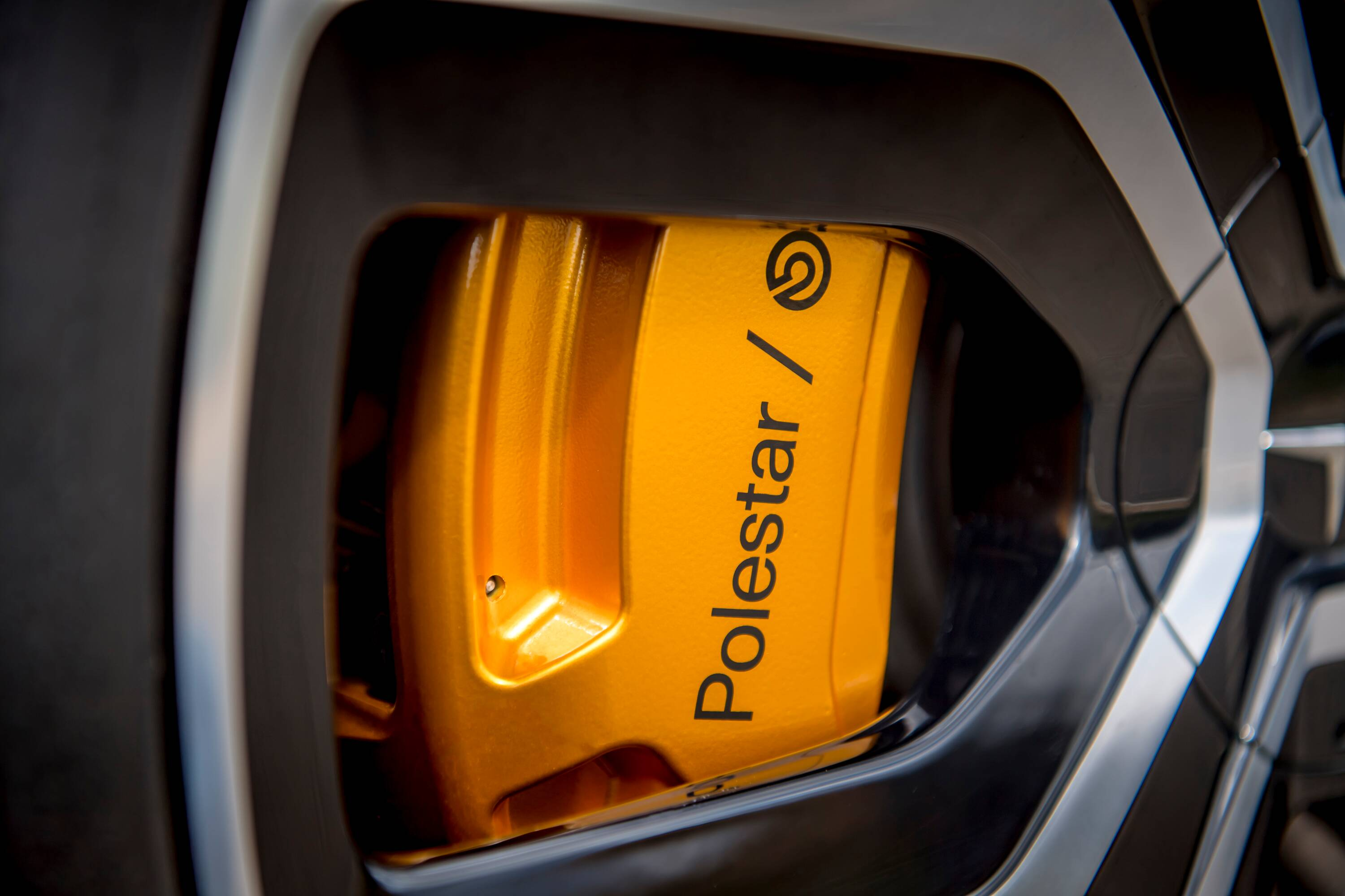 Polestar 2 Yellow Brake Calipers