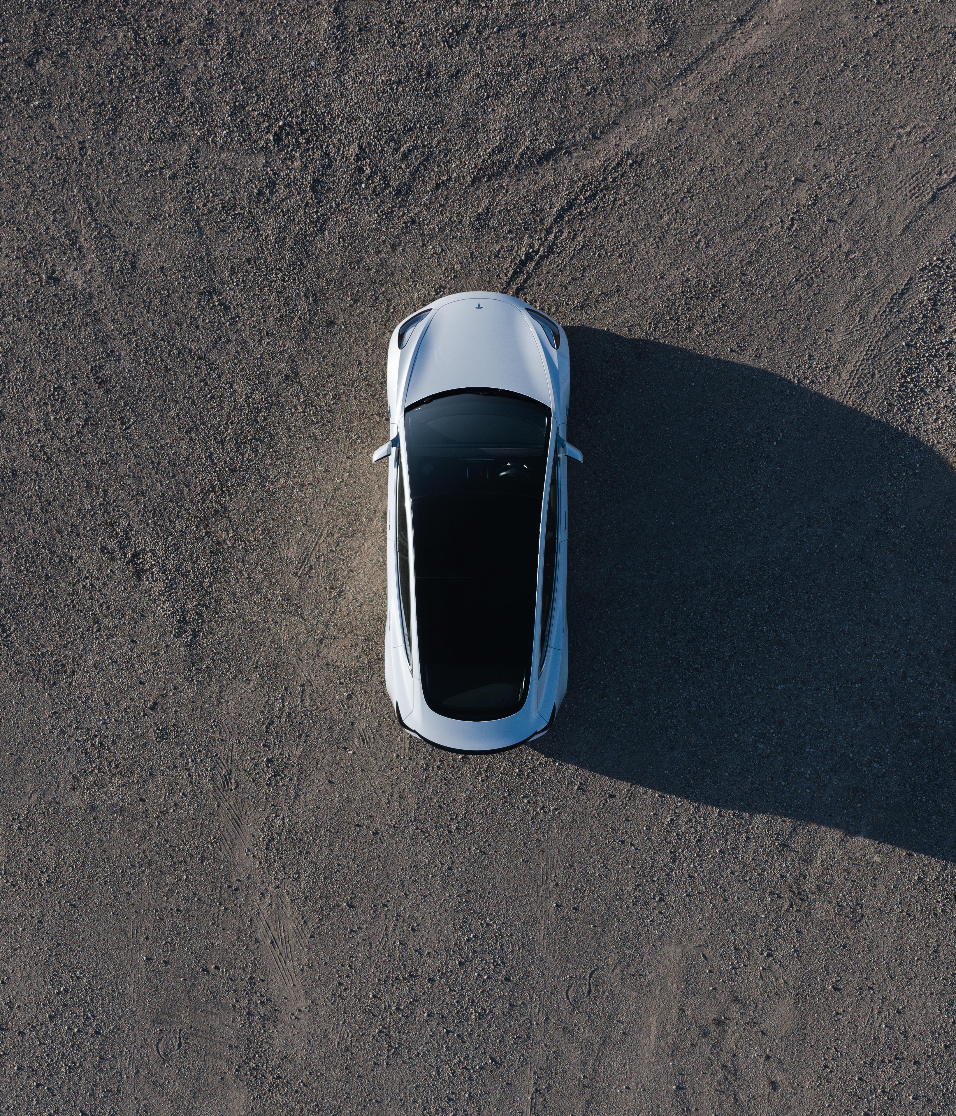 Model 3 White Overhead