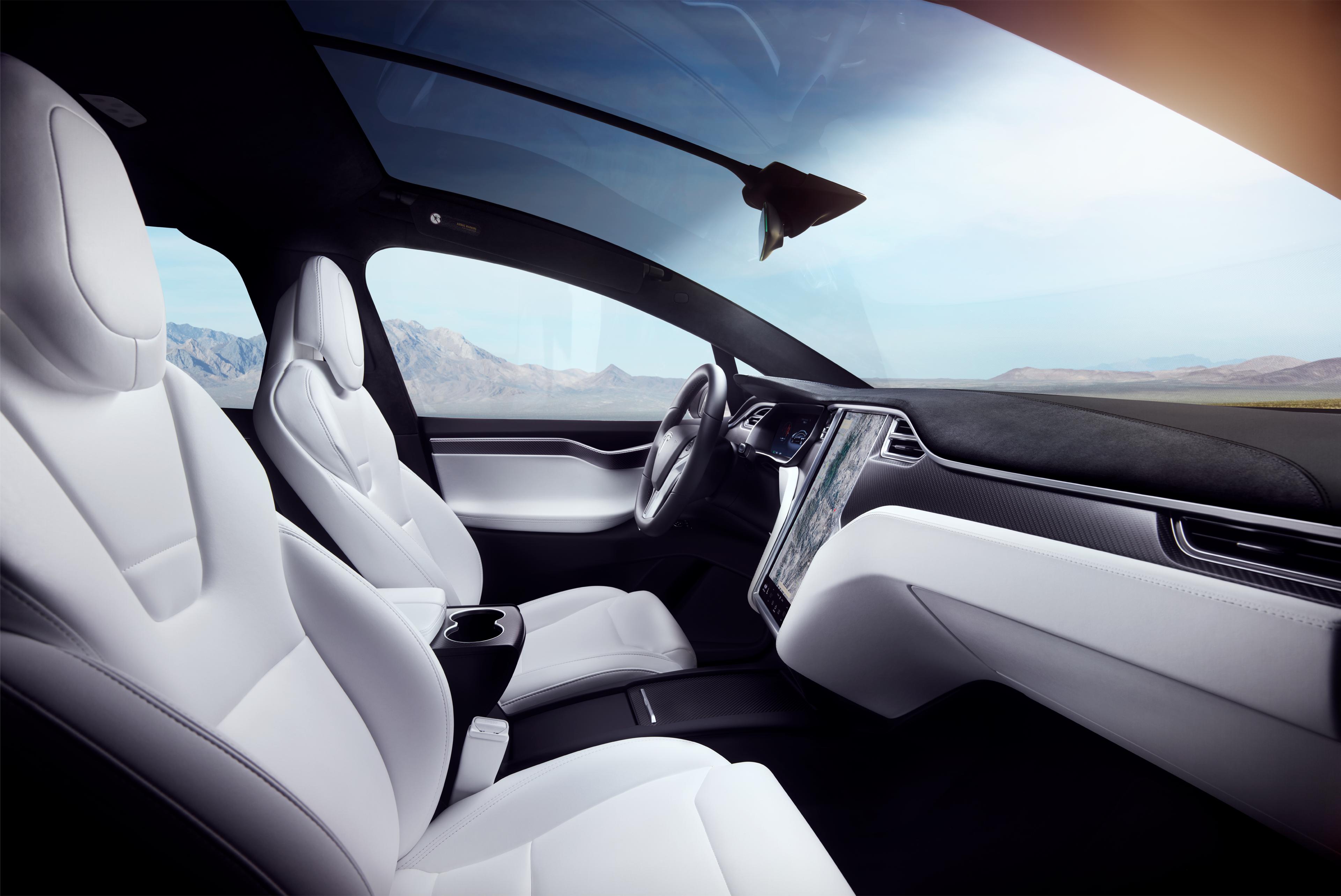 Model X White Interior - Desert