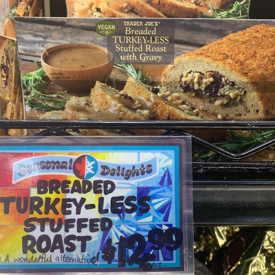 Trader Joe's Breaded Turkey-less Stuffed Roast with Gravy